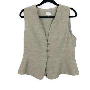 Armani Collezioni Women's Vest Tan Size 10 Italy